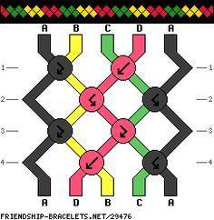 5 String Rasta Bracelet