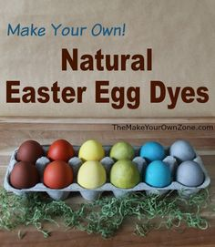 homemade natural easter egg dyes, crafts, easter decorations, go green, seasonal holiday decor