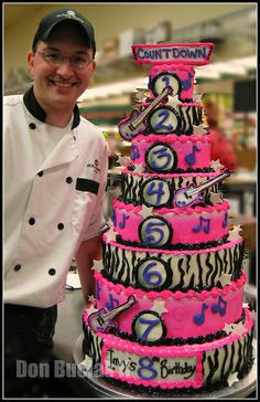 8-tiered Rockstar Cake + Me by donbuciak, via Flickr