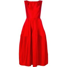 Talbot Runhof Nostalgie dress ($2,995) ❤ liked on Polyvore featuring dresses, red, talbot runhof, silk dress, talbot runhof dresses, red silk dress and red dresses