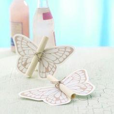 Schmetterlingseinladung zum Selber machen - schmetterlinge-als-einladung