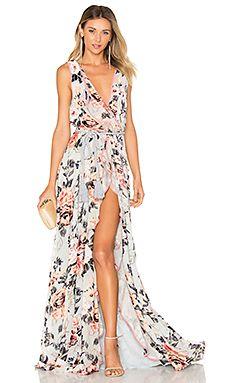 Natalia Split Front Maxi Dress