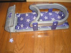 """American Girl 15"""" Bitty Baby Twin Doll Retired Purple Bobsled/Sled/Toboggan #AmericanGirl #Accessories"""