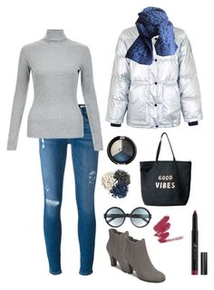 """Metallic jacket"" by knitsbynat on Polyvore featuring Frame, Topshop, A2 by Aerosoles, Venus and Tom Ford"