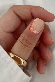 Simple Gel Nails, Cute Gel Nails, Short Gel Nails, Cute Acrylic Nails, Pretty Short Nails, Short Nail Manicure, Cute Simple Nails, Short Nails Art, Short Nail Designs