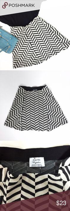 Spotted while shopping on Poshmark: ZARA Chevron Print Mini Skirt! #poshmark #fashion #shopping #style #Zara #Dresses & Skirts