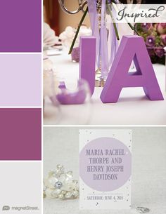 Plumeria, Lavender, Mulberry, and Winter White Wedding Color Palette | Wedding Color Trends | MagnetStreet Weddings