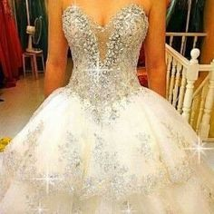 2016 Sparkly Sequined Mermaid African Wedding Dresses For Black ...