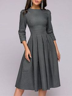 Round Neck Printed Skater Dress Fashion girls, party dresses long dress for short Women, casual summer outfit ideas, party dresses Fashion Trends, Latest Fashion # Elegant Dresses, Cute Dresses, Casual Dresses, Fashion Dresses, Sparkly Dresses, Dresses Dresses, Formal Dresses, Wedding Dresses, Dresses For Work
