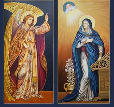 First Joyful Mystery - The Annunciation of Gabriel to Mary A Reborn Artist: Icons by Ann Chapin