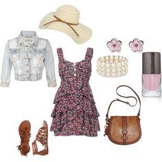 Dress/Hat/Earrings/Jean Jacket/Bracelet/Purse/Shoes