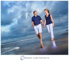 Couples beach portrait in Hilton Head by Memory Lane Portraits