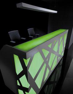 Banque d'accueil Zig Zag : en coloris vert