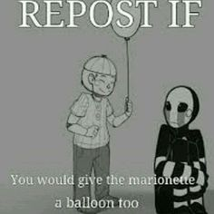 Poor mari i'll give you a balloon (∩_∩) *gives puppet a balloon*