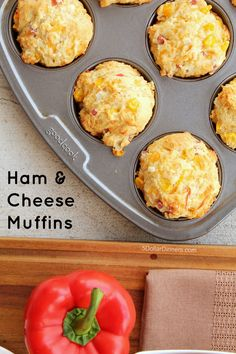Freezer Friendly Ham and Cheese Muffins Recipe ~ SmithfieldHambassador AD | 5DollarDinners.com