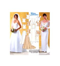 04 Butterick 4131 Special Occasion, Bridesmaid, Bridal, Wedding Tops and Skirts, Uncut, Factory Folded, Sewing Pattern Plus Size 18-20-22 Wedding Tops, Princess Seam, Cap Sleeves, Special Occasion, Sewing Patterns, Bridesmaid, Plus Size, Weddings, Bridal