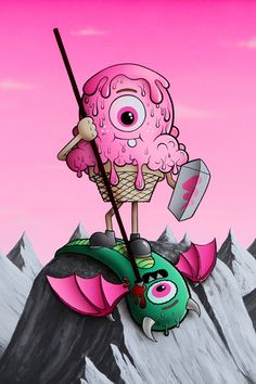 """Buff Monster """"Legend of the Pink Cherry"""""""