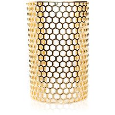 Cushnie et Ochs Honeycomb Cuff By Michelle Campbell ($750) ❤ liked on Polyvore featuring jewelry, bracelets, cushnie et ochs, honeycomb jewelry, honey comb, cuff bangle and cuff jewelry