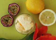 Sitruuna-passionjäätelö