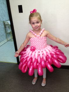 Reagan's first balloon dress
