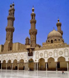 inside al-Azhar mosque