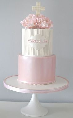 Pretty Parties - Custom Cakes CH-19 Christening / Communion / Confirmation Cake www.prettyparties.net.au