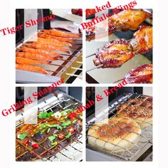 Household Smokeless Rotary Electric Barbecue Grill Electric Barbecue Grill, Tiger Shrimp, Skewers, Baking Pans, Grilling Recipes, Rotary, Tray Bakes, Hot Dog Buns, Baking Recipes