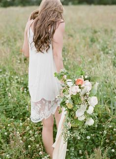 Bridal flowers by The Garden Gate Flower Company - image by Taylor & Porter Fine Art Film Photography.