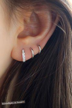These huggie earrings are perfect for ear lobe or cartilage piercings! These huggie earrings are perfect for ear lobe or cartilage piercings! Bar Stud Earrings, Gold Hoop Earrings, Crystal Earrings, Sterling Silver Earrings, Silver Jewelry, Fine Jewelry, Silver Rings, Silver Bracelets, Buy Earrings