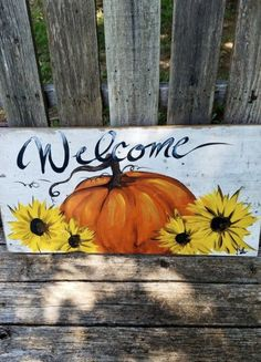 Fall Canvas Painting, Autumn Painting, Autumn Art, Painting On Wood, Canvas Art, Fall Paintings, Pumpkin Painting, Pallet Painting, Fall Wood Crafts