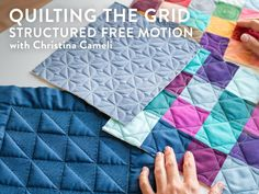 Combine your walking foot and free-motion quilting to create stunning geometric designs.
