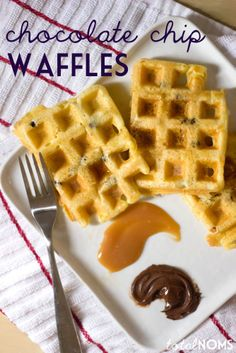 Chocolate Chip Waffles - Total Noms www.totalnoms.com