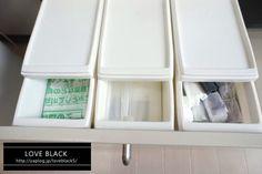 【100円ショップの収納アイテムいろいろ その2】キッチン小物とゴミ袋 : love HOME 収納&インテリア