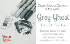 Copic Colour Combo of the week Grey Ghost