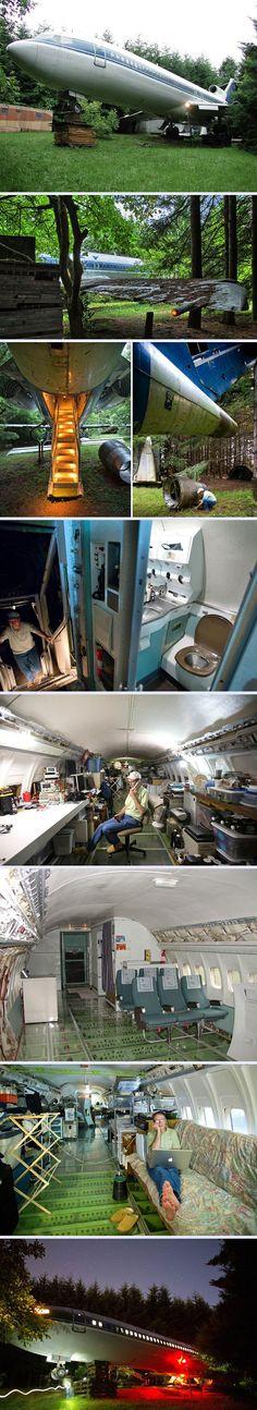 Ormanın Ortasında Boeing 727'de Yaşayan Adam