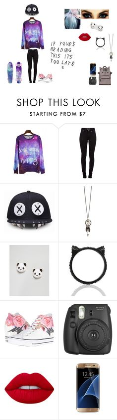 """""""Untitled #77"""" by juliab3638 on Polyvore featuring Burberry, ASOS, Kate Spade, Converse, Pusheen, Fujifilm, Lime Crime and Samsung"""