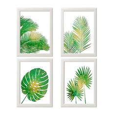 Tropical Palm Print Set, Green Wall Art, Tropical Wall Art, Palm Wall... (2,170 PHP) ❤ liked on Polyvore featuring home, home decor, wall art, palm leaf wall art, green screen, beach wall art, beach home decor and beach scene wall art