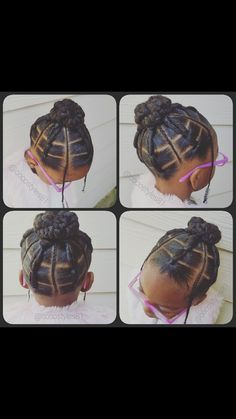 Braids and ponytails bun