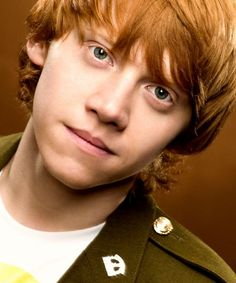 "Rupert Grint...great pic of ""Ron"""