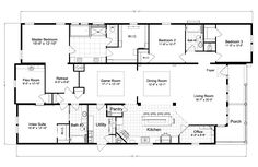 La Belle IV X4769H Home Floor Plan | Manufactured and/or Modular Floor Plans available floor plan i like best