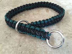 Reflective Paracord Dog Collar, Paracord Choke Collar, Paracord Slip Collar, Paracord Training Collar by ItsTangly on Etsy