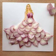 Diseños de moda de cebollas morada del ilustrador: edgar_artis