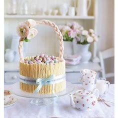 Easter basket cake - carrot cake recipe