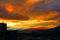 """Painted"" sunset sky"
