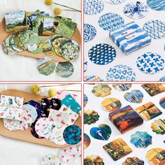 1 BOX Kawaii DIY Cute Van Gogh animal Style Daisy Illustration Stickers For Scrapbooking Decoration Paper for notebook 06467
