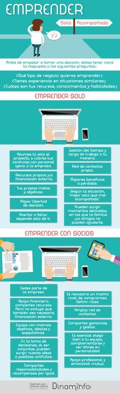 Emprender: ¿solo o acompañado? #infografia #infographic #entrepreneurship | TICs y Formación
