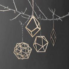 Las formas geométricas son tendencia en decoración de Navidad 2014 #tendencias #decoracion #Navidad