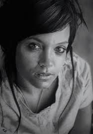 Kelvin Okafor Art - pencil drawing ''Lily Allen''- photo realsim...