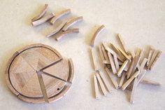 Building the waggonwheels.