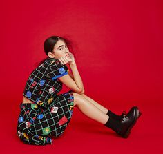 Don't Hug Me I'm Scared for Lazy Oaf Grid Tee; Don't Hug Me I'm Scared for Lazy Oaf Grid Skirt.